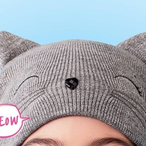 Justice Gray/Shimmer Kitty Cat Beanie